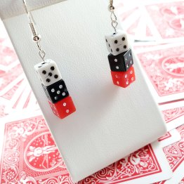 Black & White & Red All Over Gamer Gear Earrings by Wilde Designs