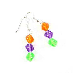 Mad Hatter Gamer Girl Earrings by Wilde Designs
