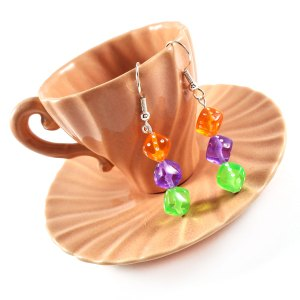 Mad Hatter Gamer Gear Earrings by Wilde Designs