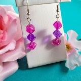 Hot Pink and Purple Gamer Gear Earrings by Wilde Designs