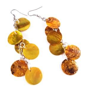 Gold Dragon Scale Earrings by Wilde Designs