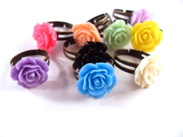 Kawaii Rose Rings By Wilde Designs