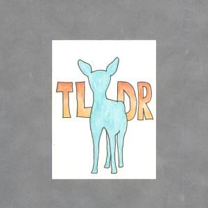 Teal Deer Art Card by Wilde Designs