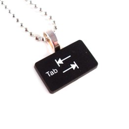 Tab Upcycled Keyboard Necklace by Wilde Designs