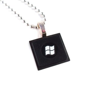 Windows Upcycled Keyboard Necklace by Wilde Designs