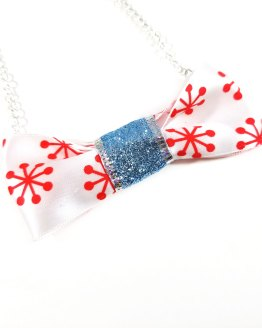 Firework Glittering Bow Tie Necklace by Wilde Designs