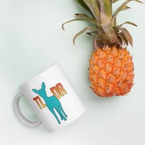 Teal Deer TLDR Mug by Wilde Designs