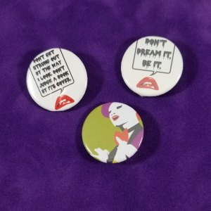 Rocky Horror button set by Wilde Designs
