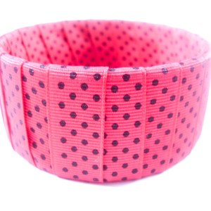 Hot Pink Polka Dot Bangle Bracelet by Wilde Designs