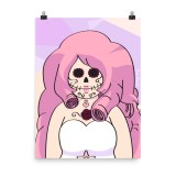 Rose Quartz Sugar Skull Poster by Wilde Designs