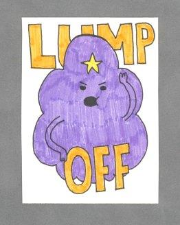 Lump Off Art Card by Wilde Designs