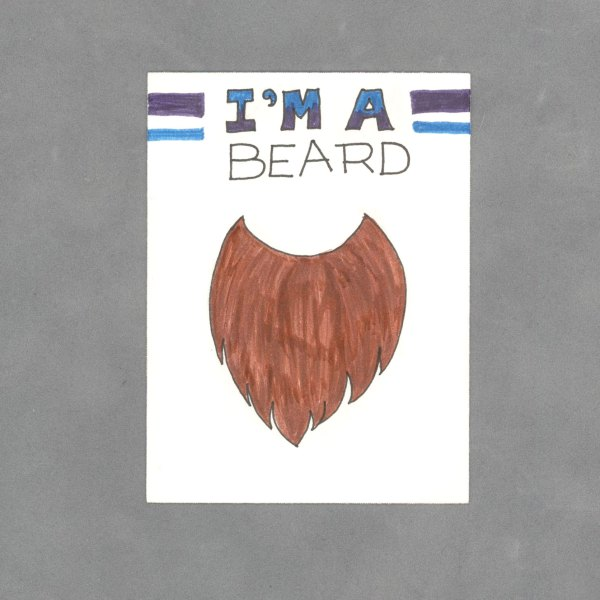 I'm a Beard Art Card by Wilde Designs
