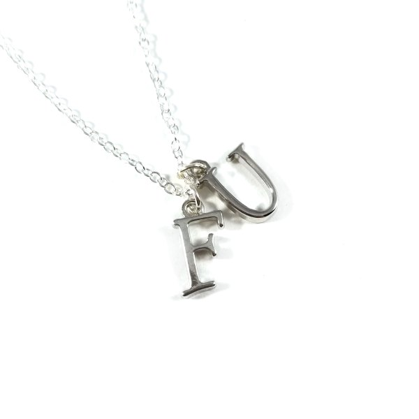 FU Humorous Necklace in Serif by WIlde Designs