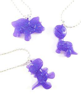 Jurassic Cutie Dinosaur Resin Necklaces by Wilde Designs