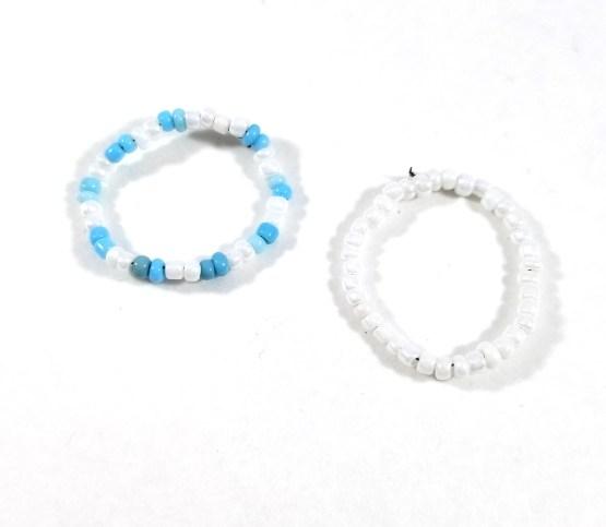 Blue Skies Bead Ring Set by Wilde Designs