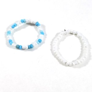 Blue Skies Bead Ring Set by Wilde Designs