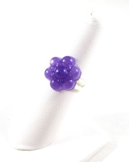 Pretty Purple Flower Resin Ring by Wilde Designs