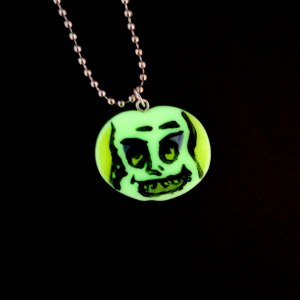 Beetlejuice Glow in the Dark Necklace by Wilde Designs