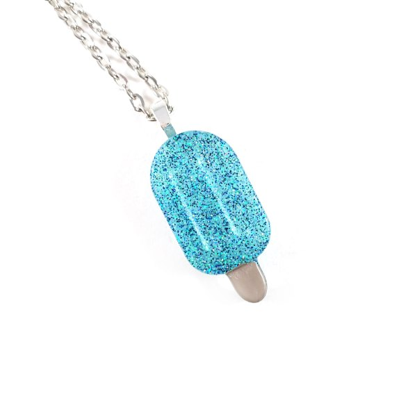 Chilly Blue Popsicle Resin Necklace by Wilde Designs