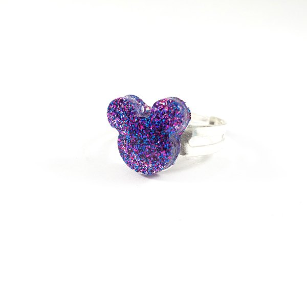 Galaxy Classic Mouse Glittery Resin Ring by Wilde Designs