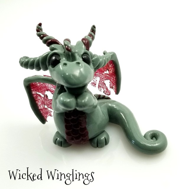 Hand Sculpted Dragon by Wicked Winglings