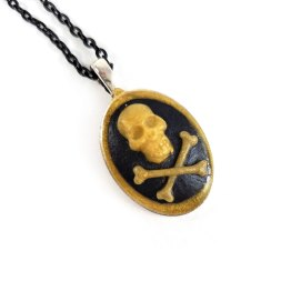 Skull and Crossbones Cameo Necklaces by Wilde Designs