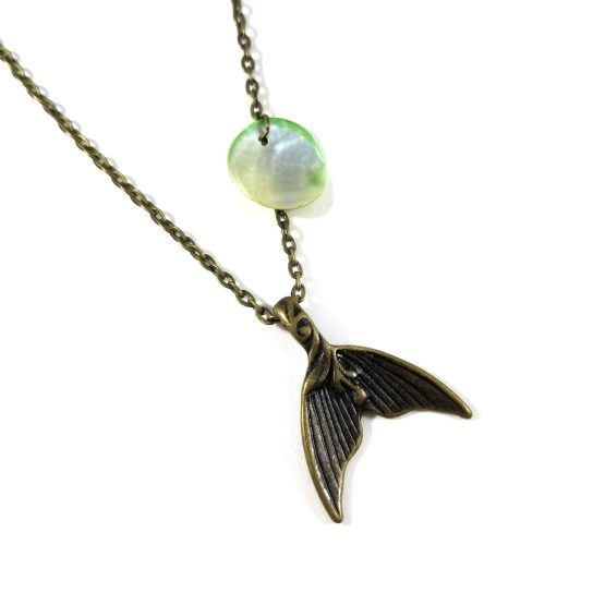 Mermaid Scale Necklace in Seafoam by Wilde Designs
