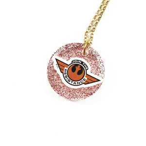 Join the Resistance Resin Necklace by Wilde Designs