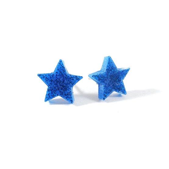 Blue on Blue Star Earrings by Wilde Designs