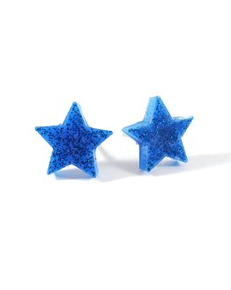 Blue on Blue Star Earrings by Wilde Designs