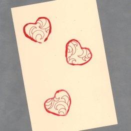 Little Bit of Love Handpainted Heart Cards by Wilde Designs