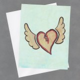 Heart Takes Flight Handpainted Cards by Wilde Designs