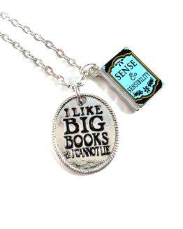 Jane Austen Book Necklaces by Wilde Designs