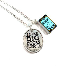 Jane Austen Book Necklaces by Wilde Designs