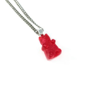Sparkling Gummy Bear Resin Necklace by Wilde Designs