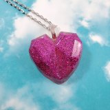 Spinel's Heart Glittery Resin Necklace by Wilde Designs