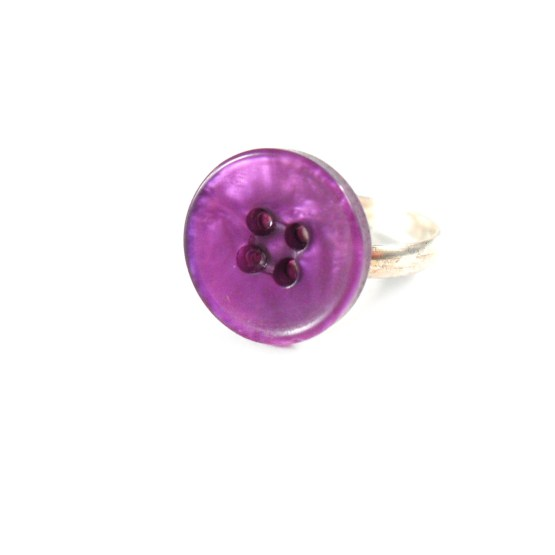 Vivid Violet Button Ring by Wilde Designs