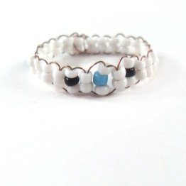 Tri Color Pastel Bead Ring by Wilde Designs
