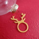 Pearly Gold Deer Antlers Resin Ring by Wilde Designs