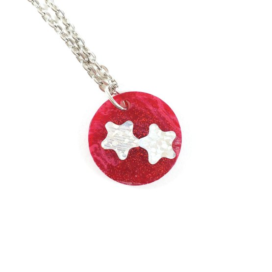 Red Galaxy Necklaces by Wilde Designs