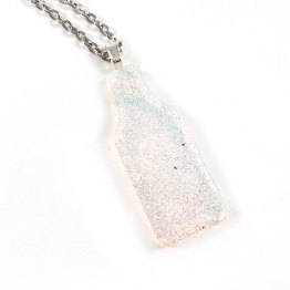 Fairy Potion Glittering Resin Necklace by Wilde Designs