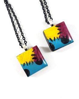 Sally Tile Necklaces by Wilde Designs