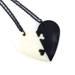 Forever Together Best Friend Heart Necklaces by Wilde Designs