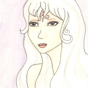 Lady Amalthea Mini Watercolor by Wilde Designs