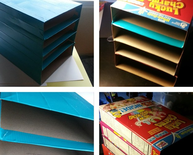 Cereal Box Organizer by Wilde Designs