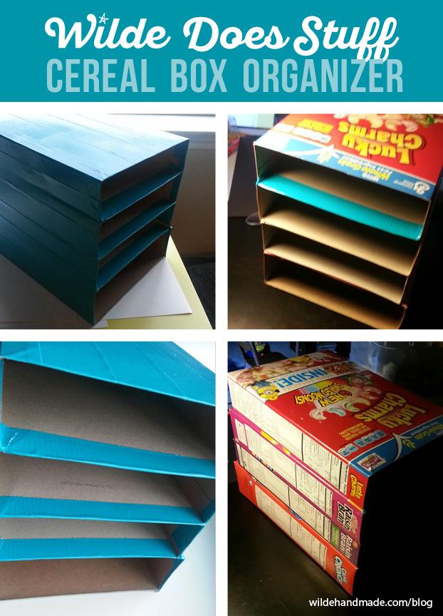 Cereal Box Organizer by Wilde Designs