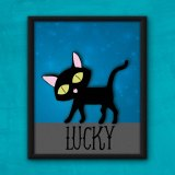 Lucky Cat Poster by Wilde Designs