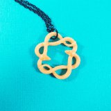Serpent Circle Necklace in Gold by Wilde Designs