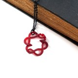 Serpent Circle Necklace in Red by Wilde Designs