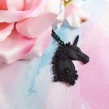 Matte Black Unicorn Necklace by Wilde Designs